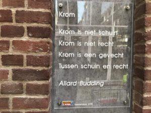 Gedicht Krom van Budding