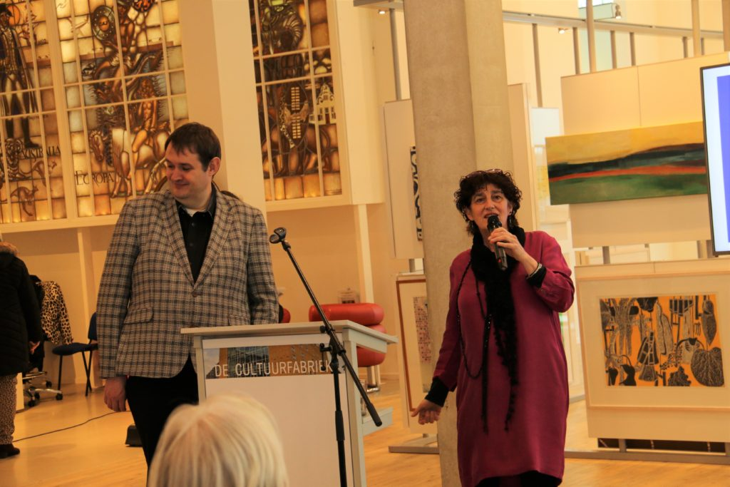 Stadsdichter Derk Postma en Daphne Kalff